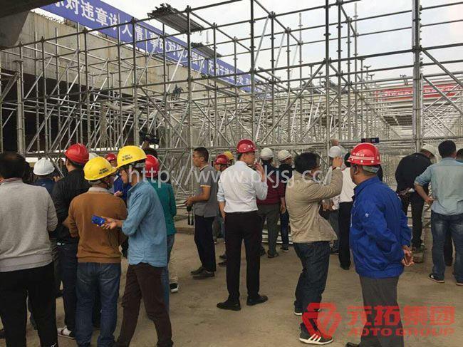 深圳地铁物业组织各施工单位负责人现场参观学习