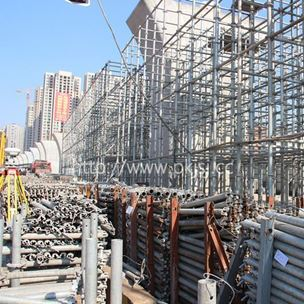 铁路专用圆盘式脚手架厂家-湖南长沙磁浮工程项目