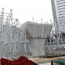 深圳地铁十一号线(香蜜湖立交桥):盘扣式脚手架